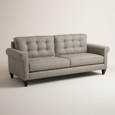 Natural color- One of my favorite discoveries at WorldMarket.com: Textured Woven Bryson Upholstered Sofa