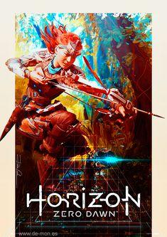 Horizon: Zero Dawn fan art Size: A1 @300ppp - 7016x9922 pixels. © Ramón De-mon Varela