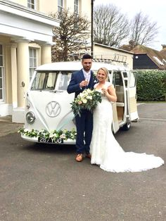 Hire your very own Splitscreen camper van to transport you and your bridal party to your wedding and decorate it to match. Vintage Weddings, Real Weddings, February Wedding, Smile And Wave, Wedding Hire, Civil Ceremony, Car Photos, Campervan, Photo Booth