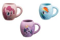 Vandor My Little Pony Friendship is Magic Oval Ceramic Mug Bundle: 42161 Pinkie Pie, 42261 Rainbow Dash, 42361 Twilight Sparkle My Little Pony Collection, Princess Twilight Sparkle, Pinkie Pie, My Little Pony Friendship, Rainbow Dash, Mugs Set, Ceramics, Pictures, Crafts