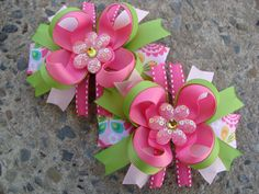 Hey, I found this really awesome Etsy listing at https://www.etsy.com/listing/228807671/toddler-hair-bow-flower-hair-bow-set