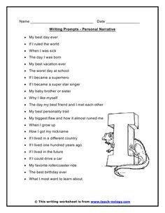essay writing my summer vacation edu writing i would use this worksheet for narrative writing prompts for students before printing i add all have fun stories to tell write to tell a story about