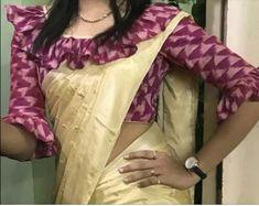 New Saree Blouse Designs, Simple Blouse Designs, Stylish Blouse Design, Saree Blouse Models, Blouse Back Neck Designs, Sari Bluse, Designer Blouse Patterns, Blouse Neck Patterns, Batik