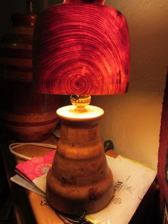 Wood lamp shade