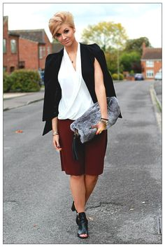 The Pixie Cut: Outfit for the Cosmopolitan Awards! River Island Bags, Pixie Cut, Cosmopolitan, Awards, Blazer, Chic, Blouse, Outfits, Style