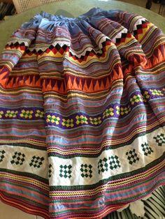 Handmade Seminole Patchwork Skirt.    B #Handmade #Skirt