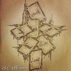 7 deadly sins tattoo sketch by - Ranz Tattoo Sketches, Tattoo Drawings, Art Sketches, Seven Deadly Sins Symbols, 7 Deadly Sins Tattoo, Dope Tattoos, Tatoos, Sin Tattoo, Naruto Tattoo