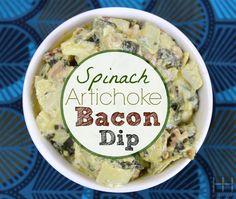 Paleo Spinach Artichoke Bacon Dip