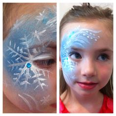 Frozen face paint!!!  Practicing doing frozen theme face painting for Annabella-Angels 5th birthday party!!!