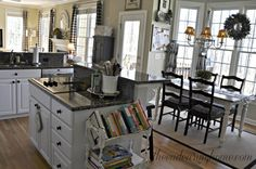 Love this kitchen. The one thing I would change is the pattern on the curtains. Everything else...love.