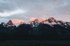 Sunrise at Grand Teton National Park