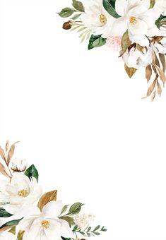 Gold Greenery Wedding Invitation Bundle edit yourself print at home and save money. Frühling Wallpaper, Flower Background Wallpaper, Flower Backgrounds, Wallpaper Wedding, Pink And Gold Invitations, Unicorn Invitations, Wedding Invitation Background, Floral Invitation, Free Wedding Invitation Templates