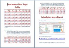 Continuous Bias Binding Calculator - So Sew Easy