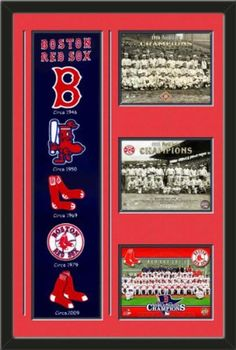 Boston Red Sox Banner With Logos - 1916 World Series Champion Red Sox team photo, 1918 Red Sox World Series Champions photo, Boston Red Sox 2013 Wrold Series Champions Team photo Framed With Different Team Photos-Awesome & Beautiful-Must For Any Fan! Art and More, Davenport, IA http://www.amazon.com/dp/B00GWJE2P2/ref=cm_sw_r_pi_dp_12hHub08E47J7