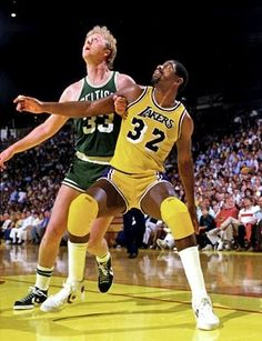 Larry Bird & Magic Johnson #NBA #basketball