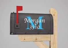 Monogrammed+Vinyl+Decal+for+Your+Mailbox+by+MemoriesinaSnapPhoto,+$10.00