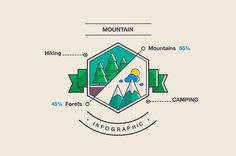Mountain and camping Infographics by Robert.F on @creativemarket