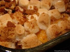 Sweet potato casserole. I made this today for Thanksgiving. Delicious!