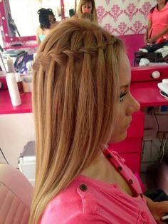 Trenza Y Rizos Mis Peinados Y Maquillaje Pinterest