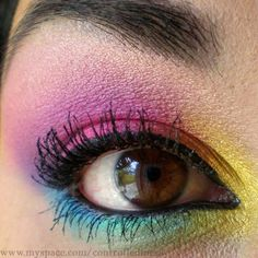 colorful eye make up