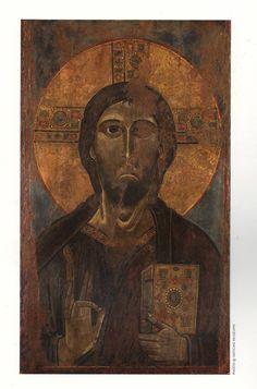 Пинакотека Ватикана Икона Христос Благословляющий 2-я пол. 12 века.