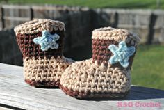 Baby Cowboy/girl boot slippers by KGCrochet on Etsy