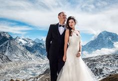 Going on an incredible vacation or eloping? This Californian couple did both by getting married atop Mount Everest. More deets on the gorgeous ceremony (held 17000 feet above sea level) in link in bio.  via ELLE INDIA MAGAZINE OFFICIAL INSTAGRAM - Fashion Campaigns  Haute Couture  Advertising  Editorial Photography  Magazine Cover Designs  Supermodels  Runway Models