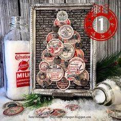 Plays Well With Paper: Twelve Days of Tim Holtz Christmas 2019 Christmas Paper Crafts, Christmas Projects, Handmade Christmas, Vintage Christmas, Christmas Crafts, Christmas Ideas, Christmas Stuff, Christmas Ornaments, Merry Christmas Wishes