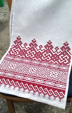 Protective towel Berehynia – shop online on Livemaster with shipping - Russian Embroidery, Blackwork Embroidery, Folk Embroidery, Ribbon Embroidery, Cross Stitch Embroidery, Embroidery Patterns, Bead Loom Patterns, Crochet Patterns, Cross Stitch Charts