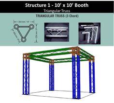 Structure 1 10' x 10' Trade Shop Booth Triangular Truss