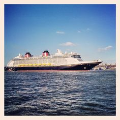 Disney Cruise liner pulling into New York Harbor