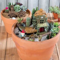 Southwestern Home Fairy Garden - Garden Waterfall Gnome Garden, Garden Pots, Herb Gardening, Backyard Projects, Diy Craft Projects, Fairy Terrarium, Southwestern Home, Yard Art, Garden Design