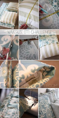 Waverize It! The Easy DIY Pillow Cover - The Blissful Bee