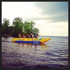 Woohoo! Banana boat rides at the Tyler Place! #Instagram #Vermont