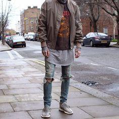 @fearofgod Bomber & Vest / Sepultura Vintage Tee / SLP AW13 Denims / 350