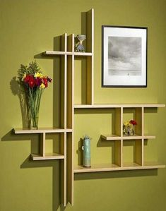 Stunning Bar Wall Shelf Furniture Design Ideas Design Bamboo Shelves At Vivavi Contemporary Sustainable Furniture Cool Shelves, Wall Shelves Design, Wall Shelving, Wooden Shelves, Glass Shelves, Bedroom Wall Shelves, Unique Wall Shelves, Picture Shelves, Shelf Wall