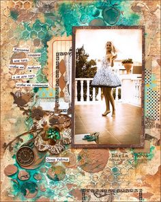 Mixed-media layout with video-tutorial. By Daria Pneva.