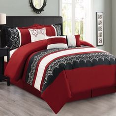 Black Bedroom Ideas, Inspiration For Master Bedroom Designs ... on red and black tv stands, red and black living room, red and black comforter full, red and black entertainment center, red and black dressers, red and black outdoor furniture, red and black kitchen, red black and white bedrooms, red and black clocks, red and black beds, red and black area rugs, red and black quilts, red and black chandeliers, red and black chest of drawers, red and black art, red and black curtains, red and black tables, red and black floor lamps, red and black pillows, red and black walls,