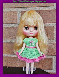 Vestido para muñecas middie Blythe de Fordollsboutique en Etsy
