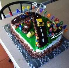 Coolest Cars Race Track Birthday Cake... Coolest Birthday Cake Ideas