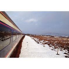 Another great photo from @reece.mcmilan #Scotland #Landscape #Wanderlust #Travel #UK #ScottishIgers  #Caledoniansleeper #scotrail #train #snow #landscape #sun