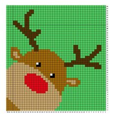Crochet Rudolph C2C Blanket - Repeat Crafter Me