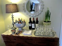 How to set up a bar for a party (without having an actual bar)