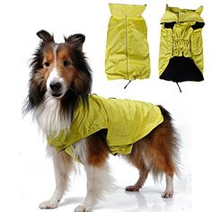 Kimfoxes Waterproof Dog Winter Vest Coat Dog Warm Blanket Pet Clothes for Dog Reflective Fleece Padded Dog Jacket for Large and Medium Size Dogs YellowSize XXXL * Be sure to check out this awesome product.