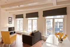 Rembrandt square Apartment A.   Right in the heart of the Amsterdam canal belt and overlooking Rembrandt Square, this modern apartment is a real find. Perfect for sleeping 4, its location close to all the nightlife and restaurants of central Amsterdam is one of the most sought after in the city.