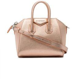 Givenchy Antigona Mini tote bag - rose gold pebbled metallic leather Givenchy  purse fe19c231d7f81