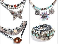 50% OFF all of these gorgeous pieces that are STILL AVAILABLE!!! Shown from top left clockwise: 1) Flirty Black Multi Stone Necklace, Magic Rain Choker, & WINGS Butterfly Necklace...2) Genuine Fun Necklace & Tie Dye Flower Necklace.. 3) Flirty Black Stretch Bracelet,Magic Rain Bracelet, Genuine Fun Bracelet (bottom Spot On Bracelet Not ava), ...4) Reinvention 2 Row Necklace, OASIS Multi Stone Necklace, & OASIS Oval Necklace. ORDER SOON BEFORE THESE SELL OUT!!!