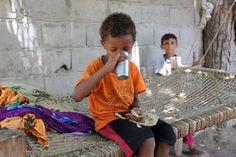 Abdullah Joblan, ein Beamter des Dorfes, erzählt, dass bereits mehrere Kinder...