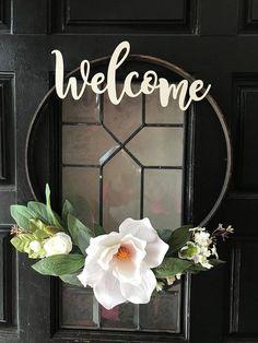 Modern Wreath,Minimalist Wreath,Spring Wreath,Year Round Wreath,Floral  Wreath,