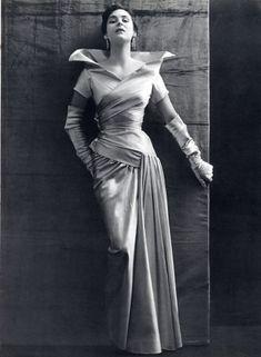 Jeanne Lanvin Evening Gown   Photo Philippe Pottier, 1950.